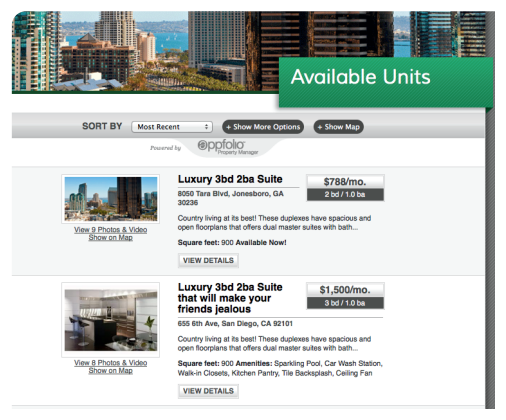 Our long term rental and property management website is easy to access and use!